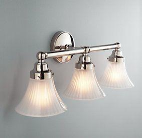traditional bathroom lighting. chatham triple sconce traditional bathroom lighting and vanity restoration hardware