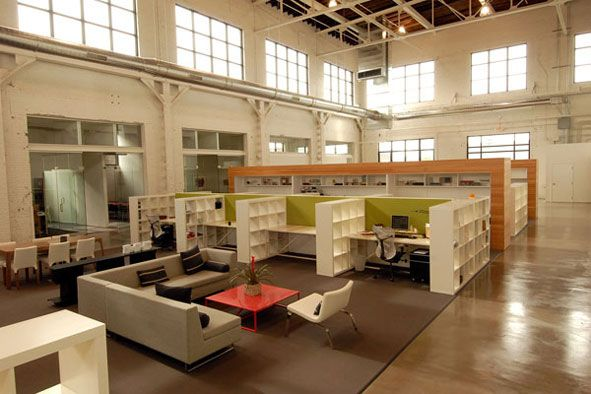 Love The Green In This One Open Office Design Open Office