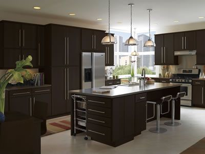 Moderno Flat Panel Maple Cabinets In Espresso By Armstrong