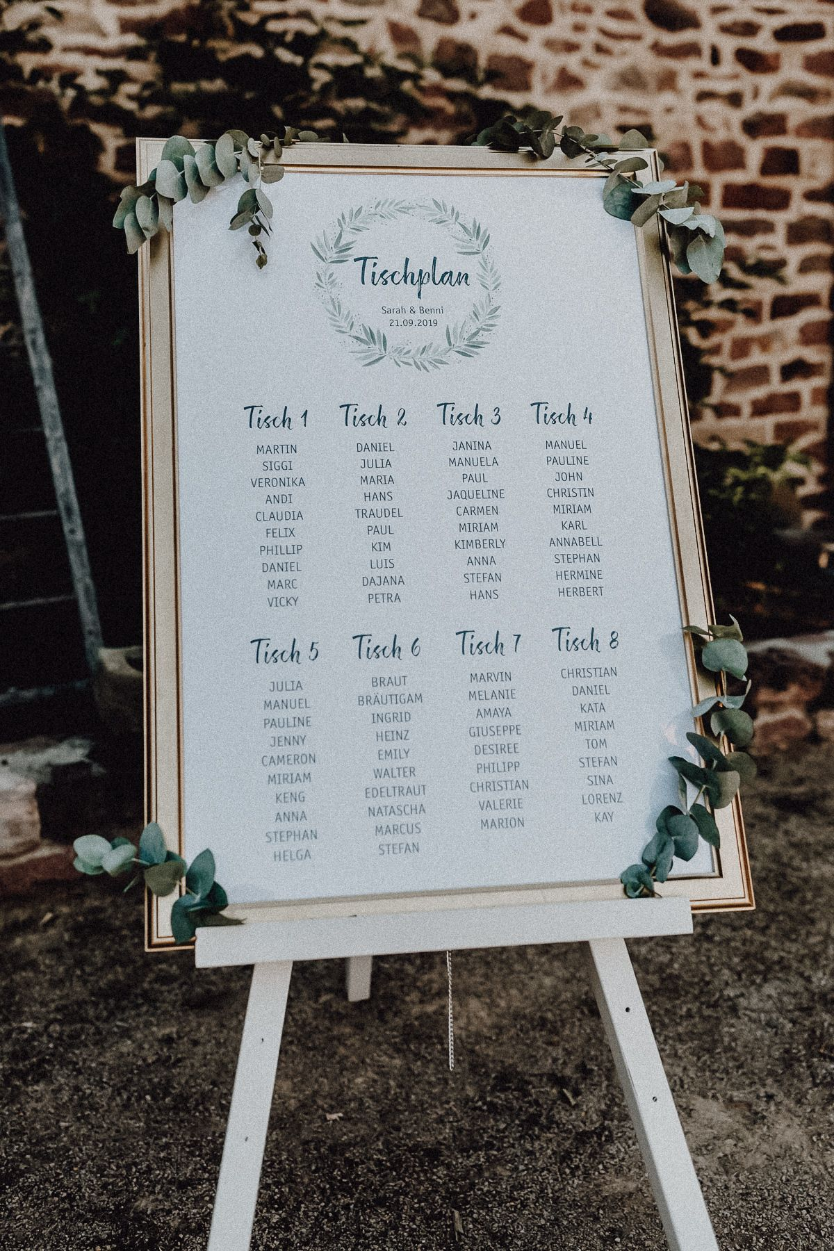 Tischplan Hochzeit | blühende Liebe #weddingplanning