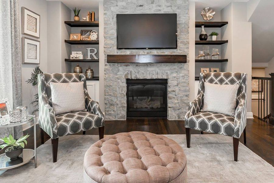 Fake Tv Props For Home Staging Tv Props Staging A Living Room Living Room With Fireplace