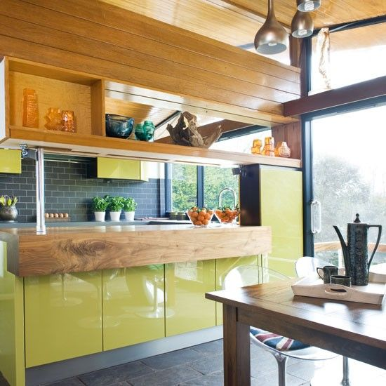 Quirky Kitchen Decor: Step Inside A Quirky Green Retro-inspired Kitchen