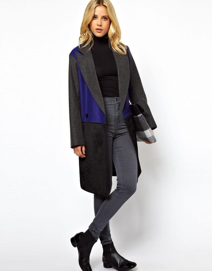 #stylish color block #coat