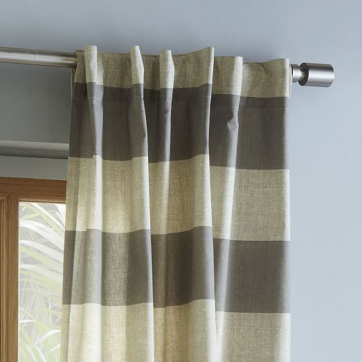 Cotton Canvas Bold Stripe Curtain Plaster Home Decor Master Bedroom Curtains Curtains
