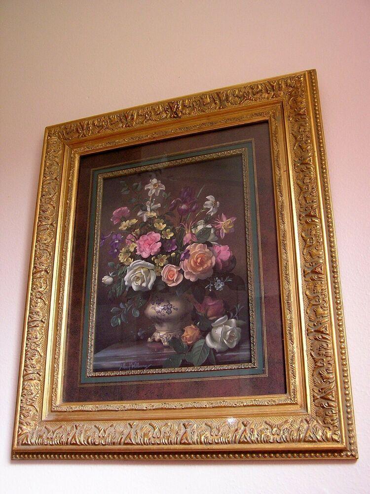 Details about albert williams flowers print beautiful