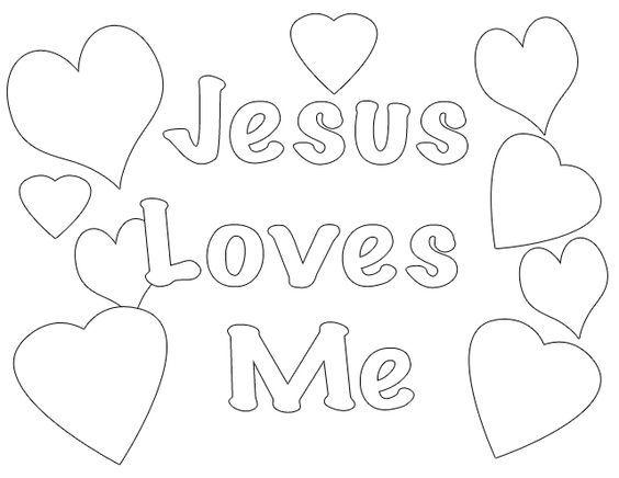 Jesus Loves Me Coloring Page For Preschoolers
