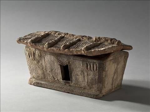Modèle de maison, Époque de Giao Chi (Ier \u2013 IIIe siècle) Terre cuite