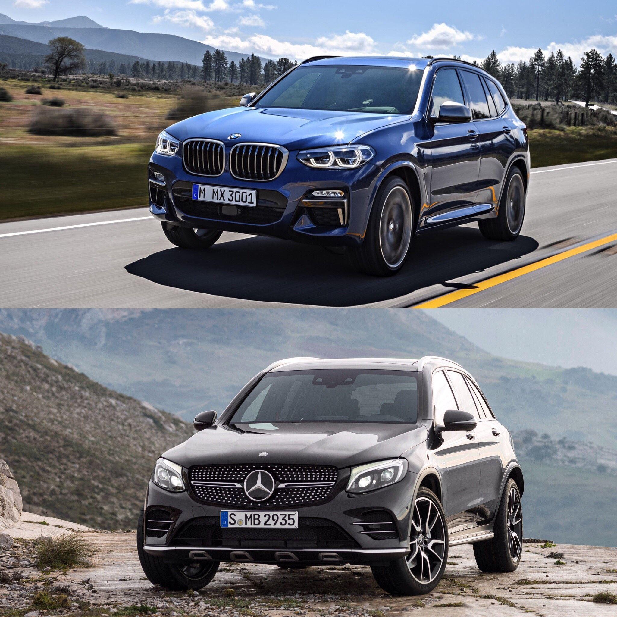Photo Comparison Bmw X3 M40i Vs Mercedes Amg Glc43 Bmw X3 Bmw