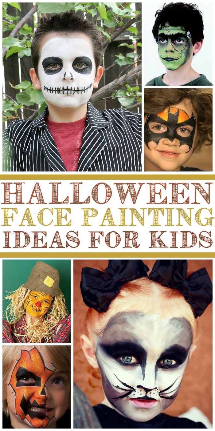halloween face paint ideas for children