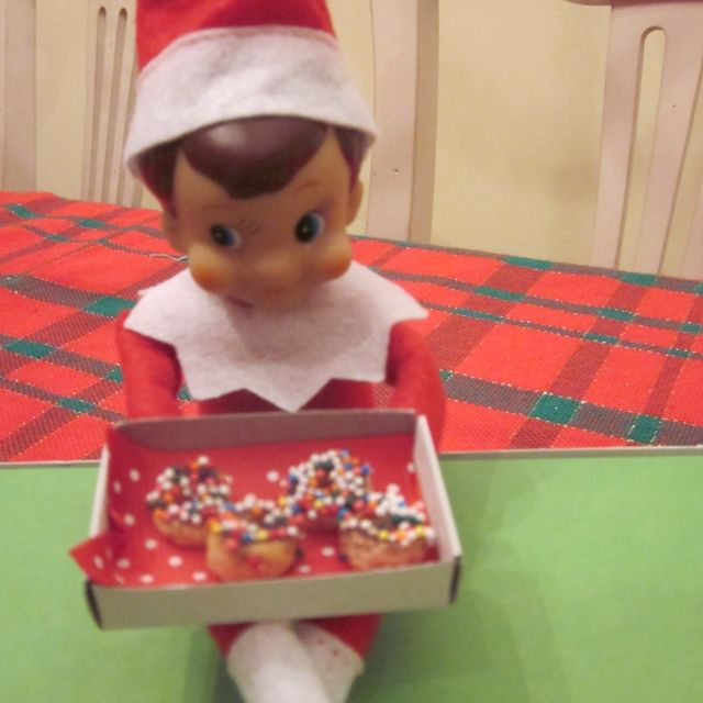 Benny & mini elf donuts! (he brought real ones for the kids too!)