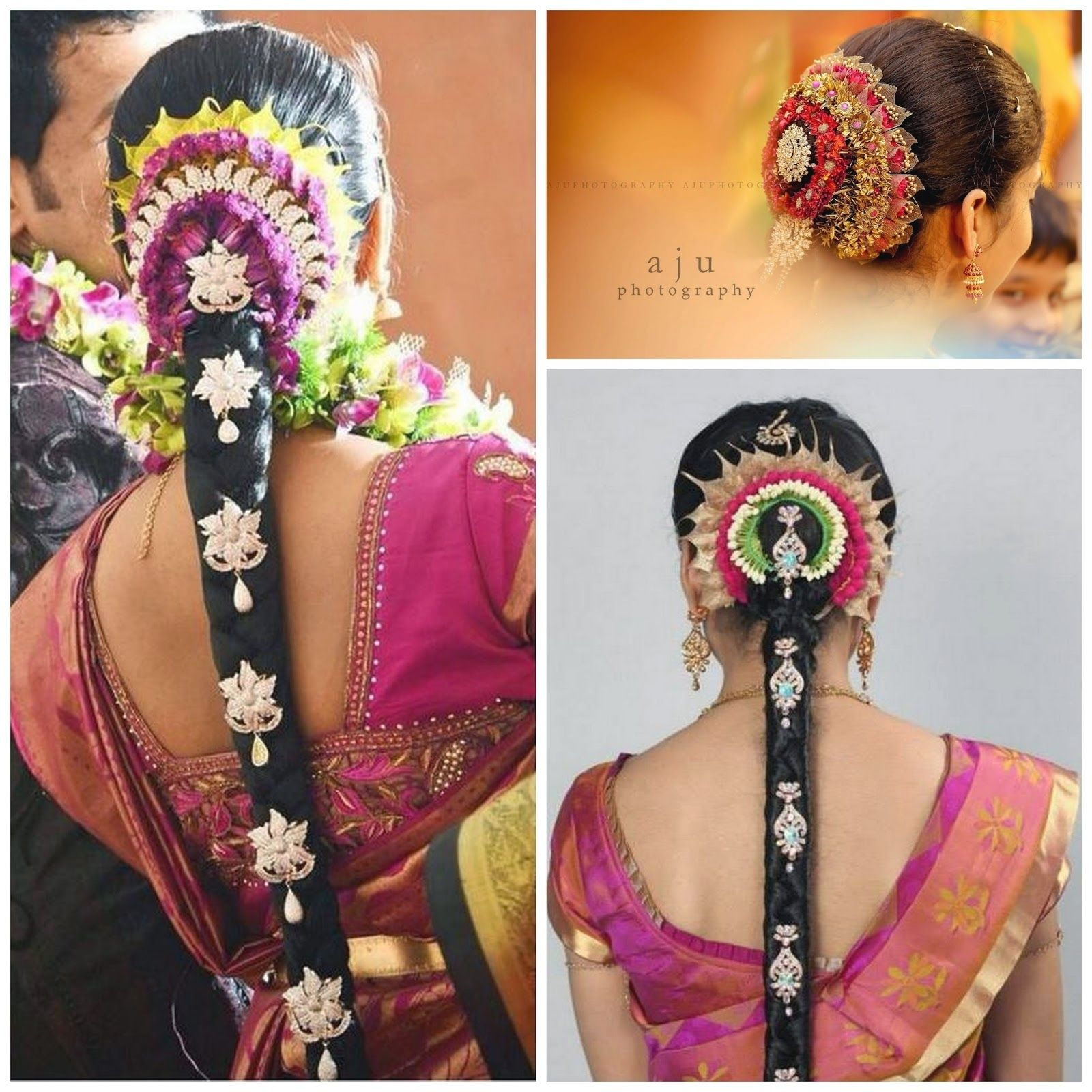 Pelli Poola Jada Southindian Bridal Hairstyles With Flowers Inside