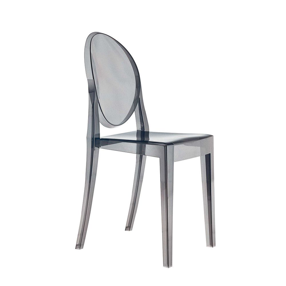 victoria ghost chair  smoke grey  ghost chairs gray and ottoman  - discover the kartell victoria ghost chair  smoke grey at amara