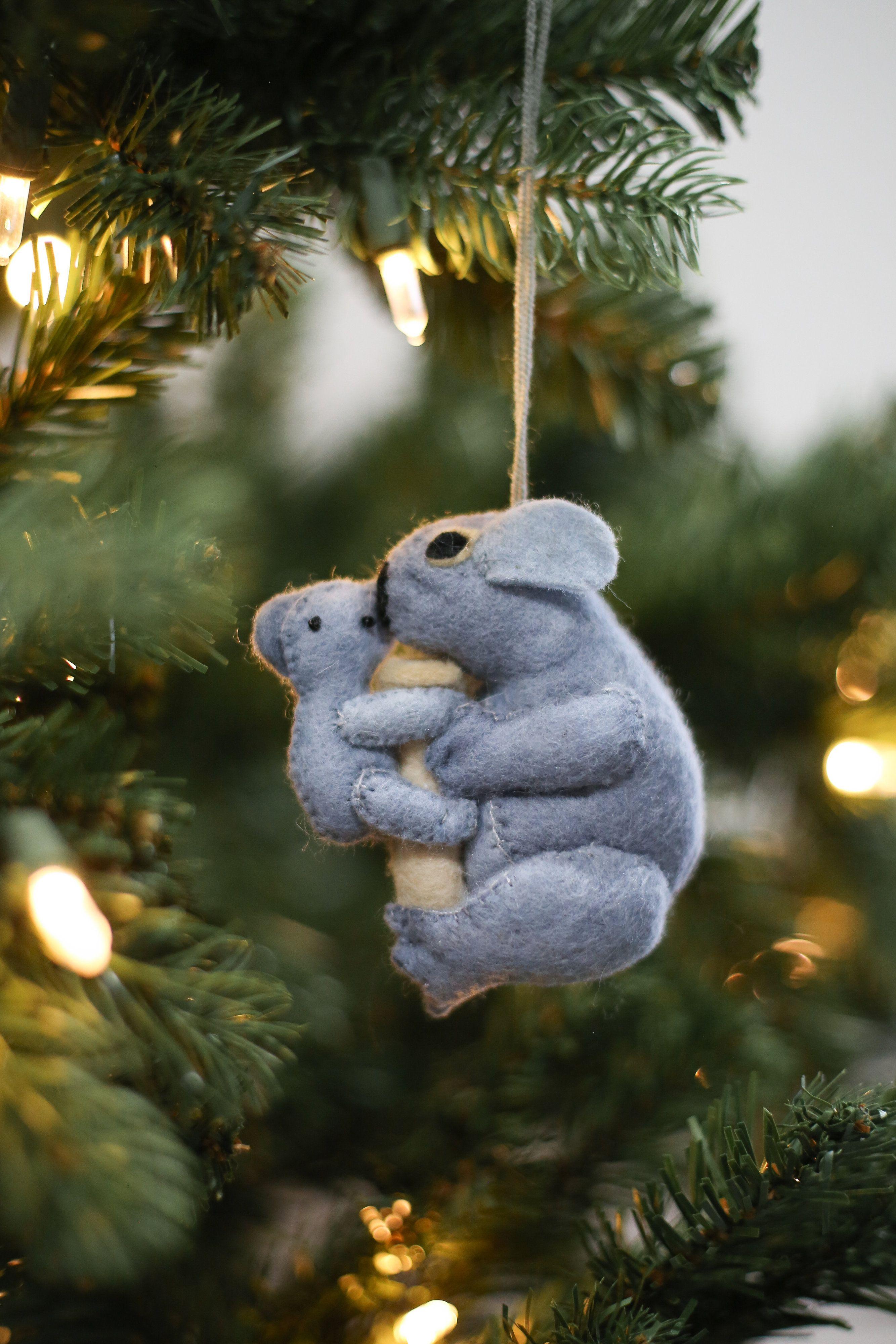 Mom & Baby Koala Fair Trade Felt Tree Ornament Felt tree
