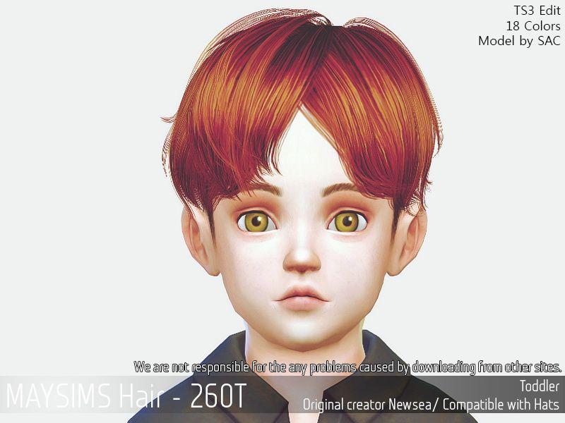 May Sims May 260t Hair Retextured Sims 4 Custom Content