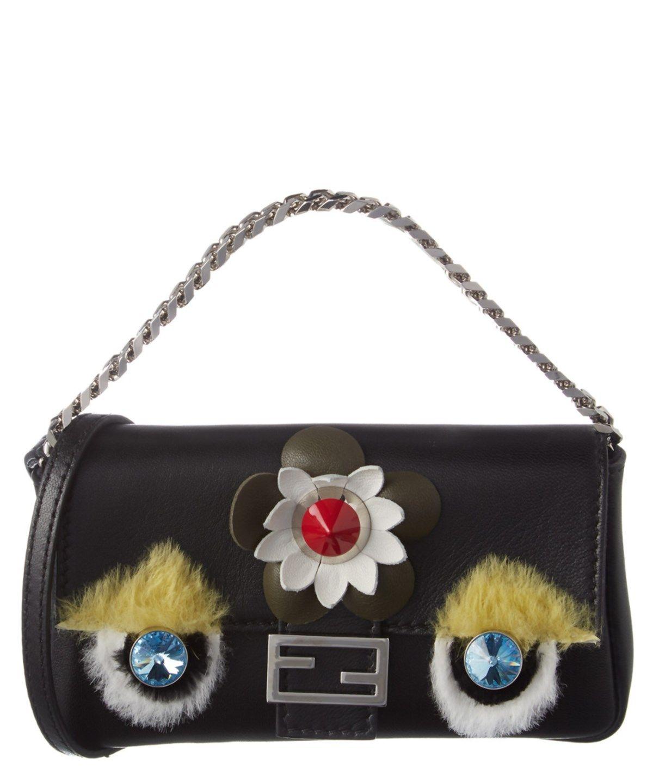 fae3735cf2a1 FENDI Fendi Fashion Show Micro Leather Baguette .  fendi  bags  shoulder  bags  lining  fur