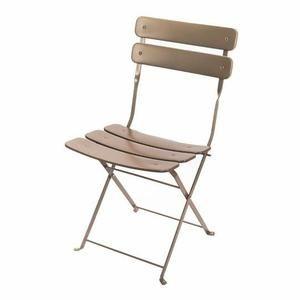 Chaise bistrot pliante taupe mat - Achat / Vente fauteuil jardin ...