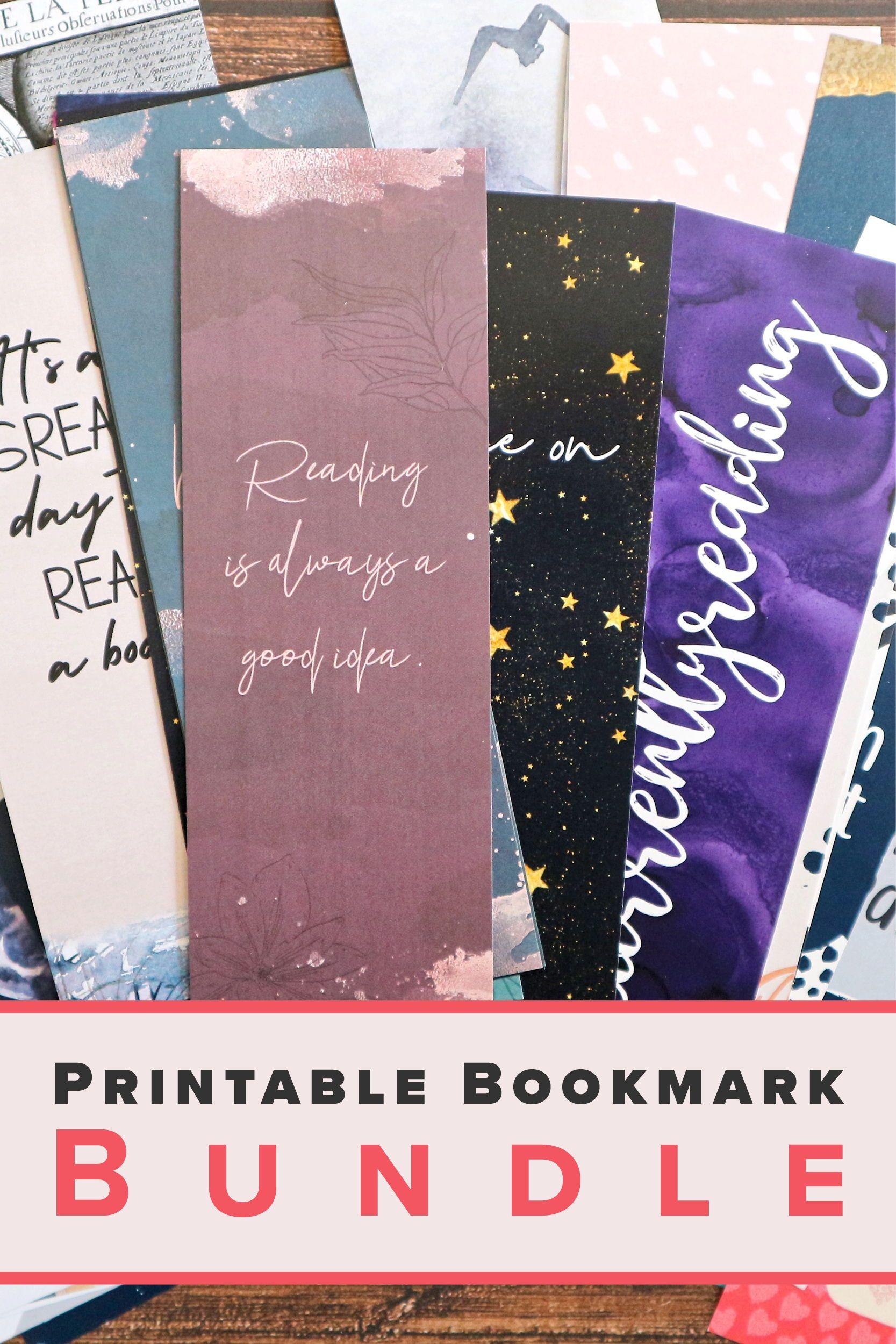 Printable Bookmark Bundle Book Club Gifts Quotes Bookmarks For Etsy Bookmarks Printable Bookclub Gifts Bookmarks For Books