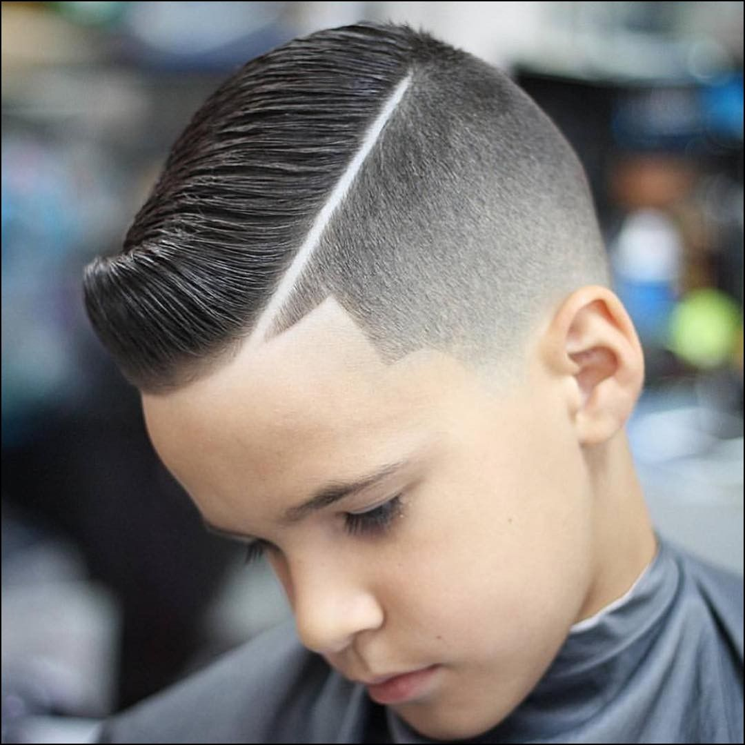 Haircut With Line On Side Hard Part Haircut Boy