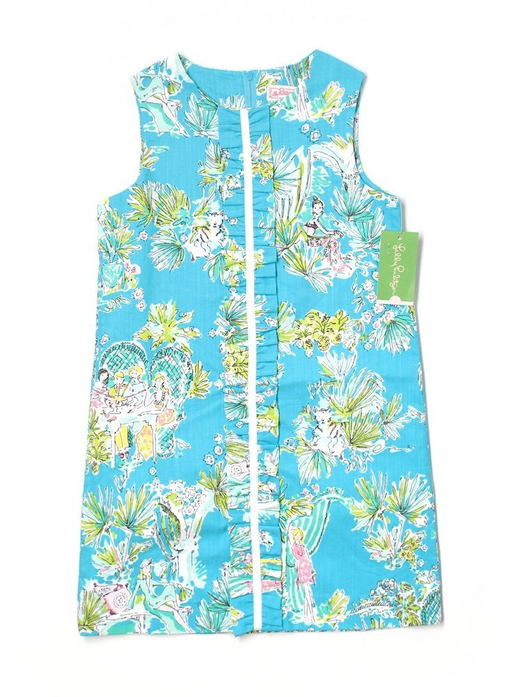 71bf9a49fe15c0 New Girl Lilly Pulitzer Originals Jungle Glam Toile Shift Dress Size 10 # LillyPulitzer #EverydayDressyHoliday