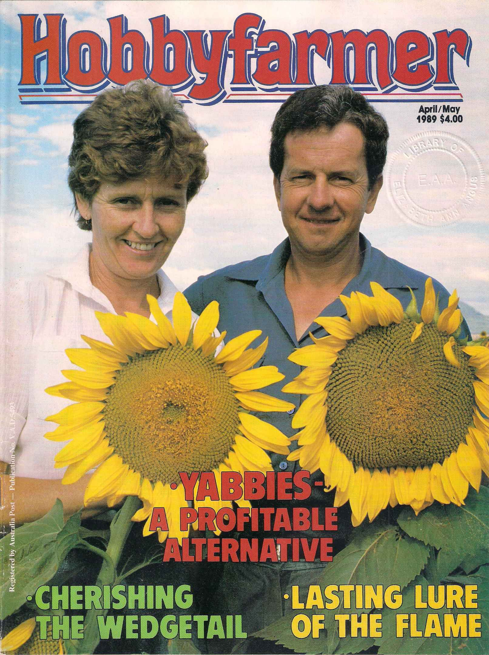 Hobbyfarmer April May 1989 Gardening Magazine Organic Growing
