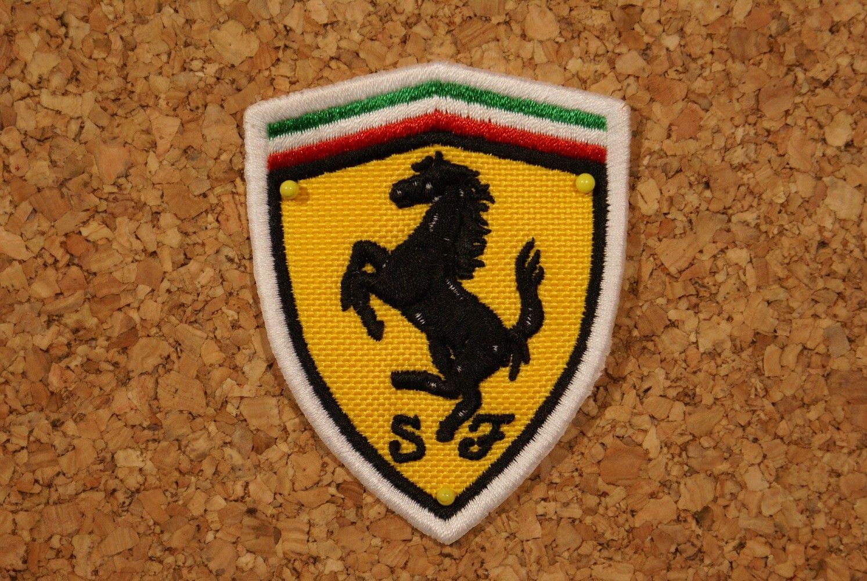 Patch Ferrari Retro Wheels écusson à Coudre Ecusson Brodé Ferrari