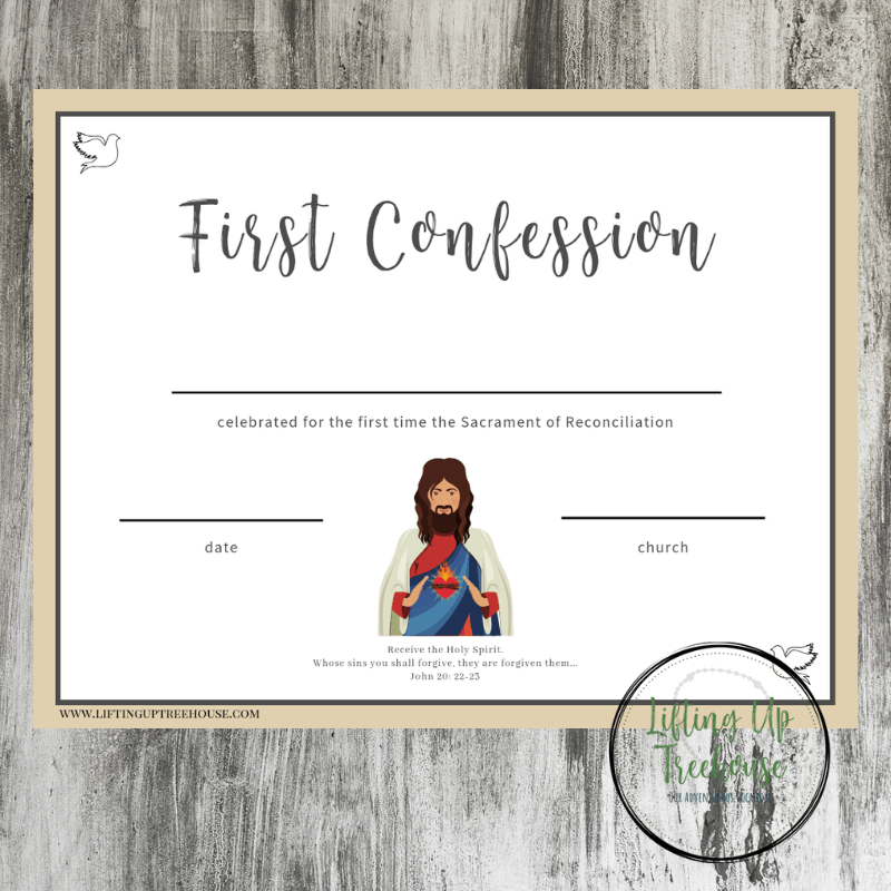 Genevieve S First Confession W Free Printable Catholic