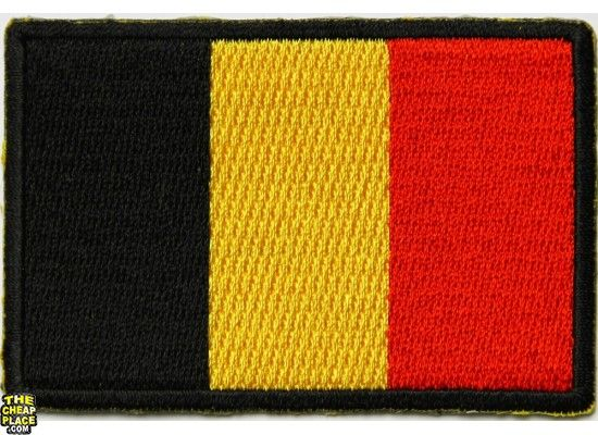 Belgium Flag Embroidered Patch - iron-on or sew-on