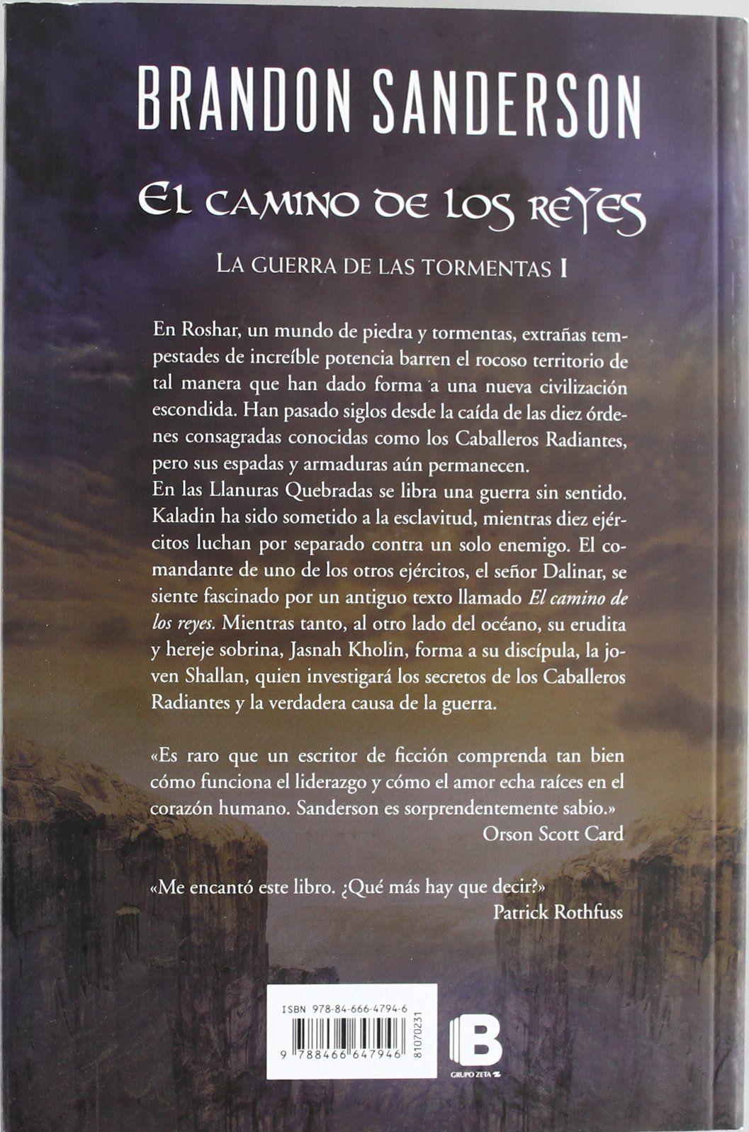 El camino de los reyes El Archivo de las Tormentas 1 Nova #de, #