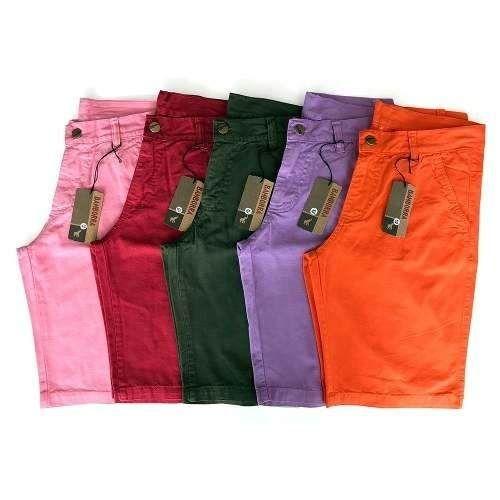 4a812558a kit com 5 bermudas masculinas sarja brim coloridas baratas ...
