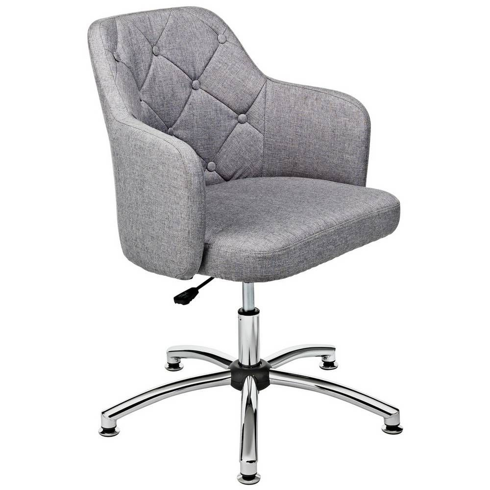 Buy argos home button back fabric office chair grey in