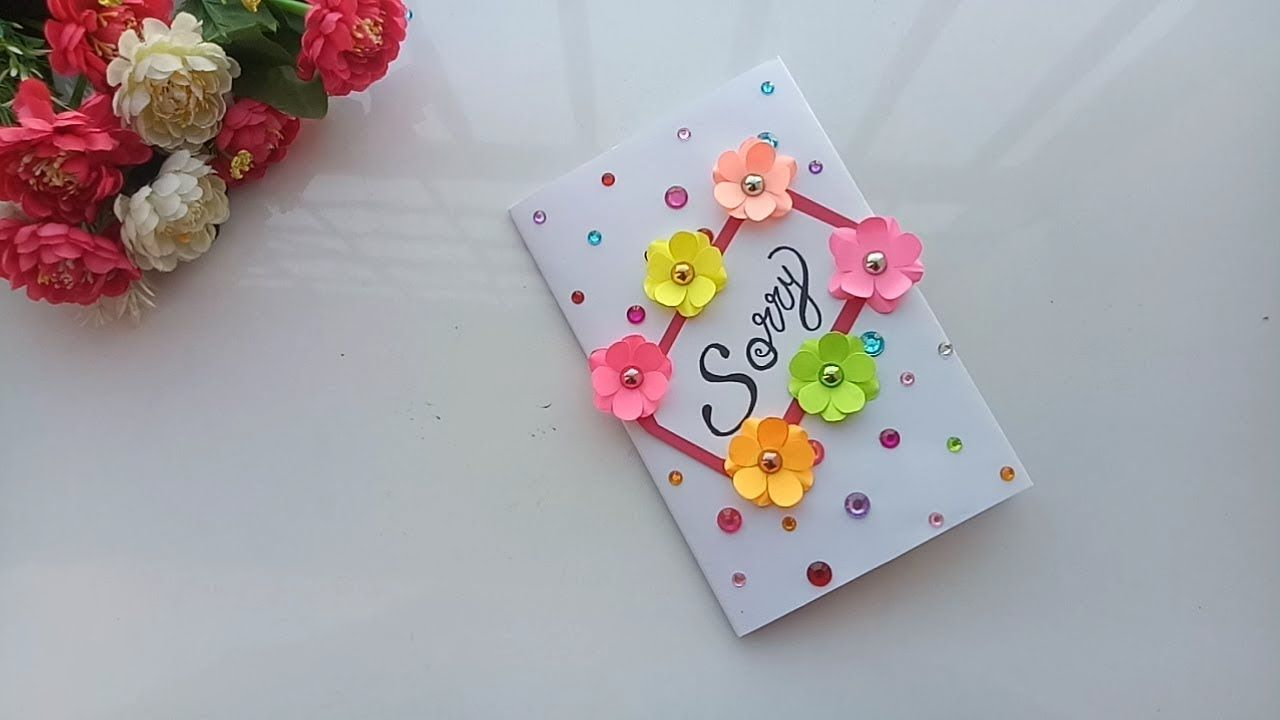 How To Make A Beautiful Sorry Card Sorry Card Tutorial Youtube