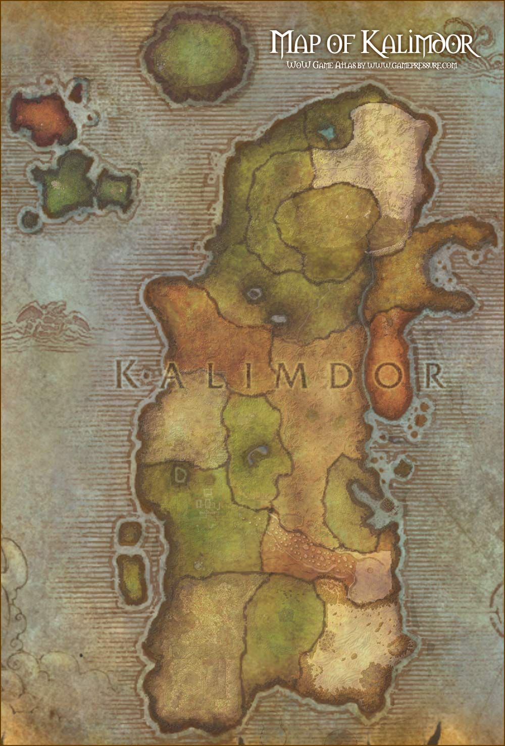 Map of kalimdor world of warcraft map of kalimdor world of warcraft gumiabroncs Images