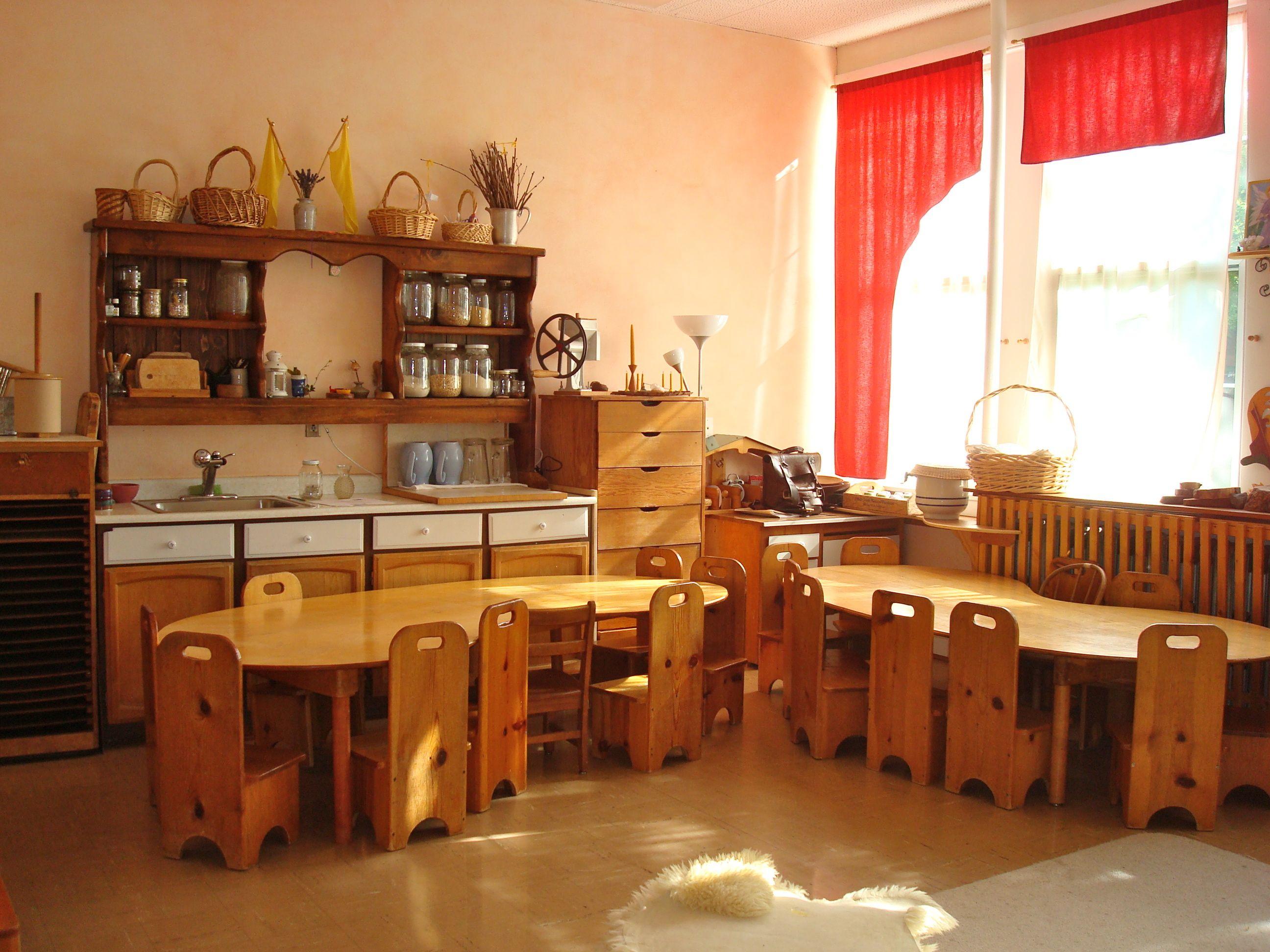 Waldorf Kinderzimmer ~ Kitchen and children s tables waldorf kindergarten