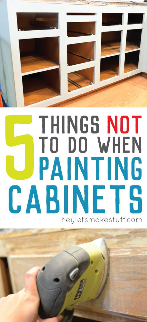 5 Mistakes To Avoid When Painting Cabinets