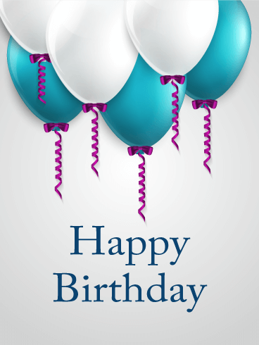 Blue White Happy Birthday Balloon Card Isnt This A Stylish If You Are Looking For Nice Him Is It