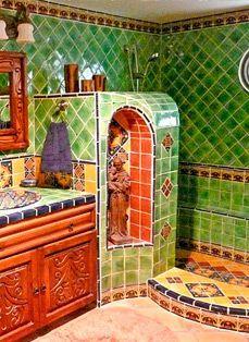 Kristi Black Designs Creates Unique Interior And Exterior Decor Using Custom Talavera Tile Create A Spa Mexican Style With