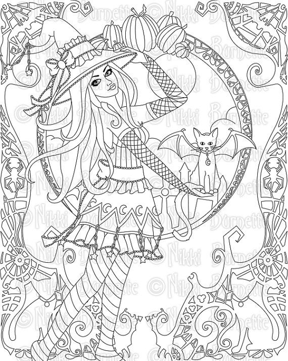 This Item Is Unavailable Etsy Witch Coloring Pages Coloring Pages Halloween Coloring Pages