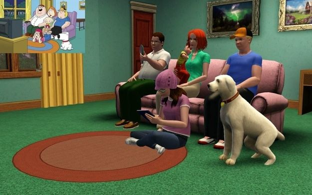 Reddit User Recreates The House From Family Guy In Sims 3 Family Guy Sims 3 Sims