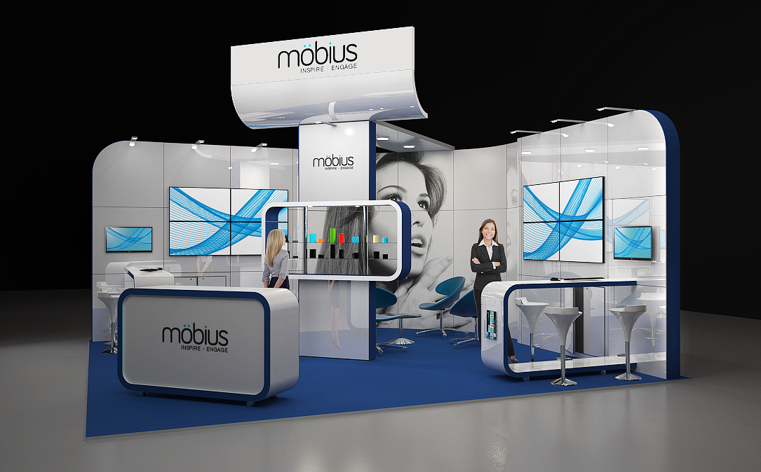 Modular Exhibition Stands Zone : Möbius m modular exhibition stand without the custom