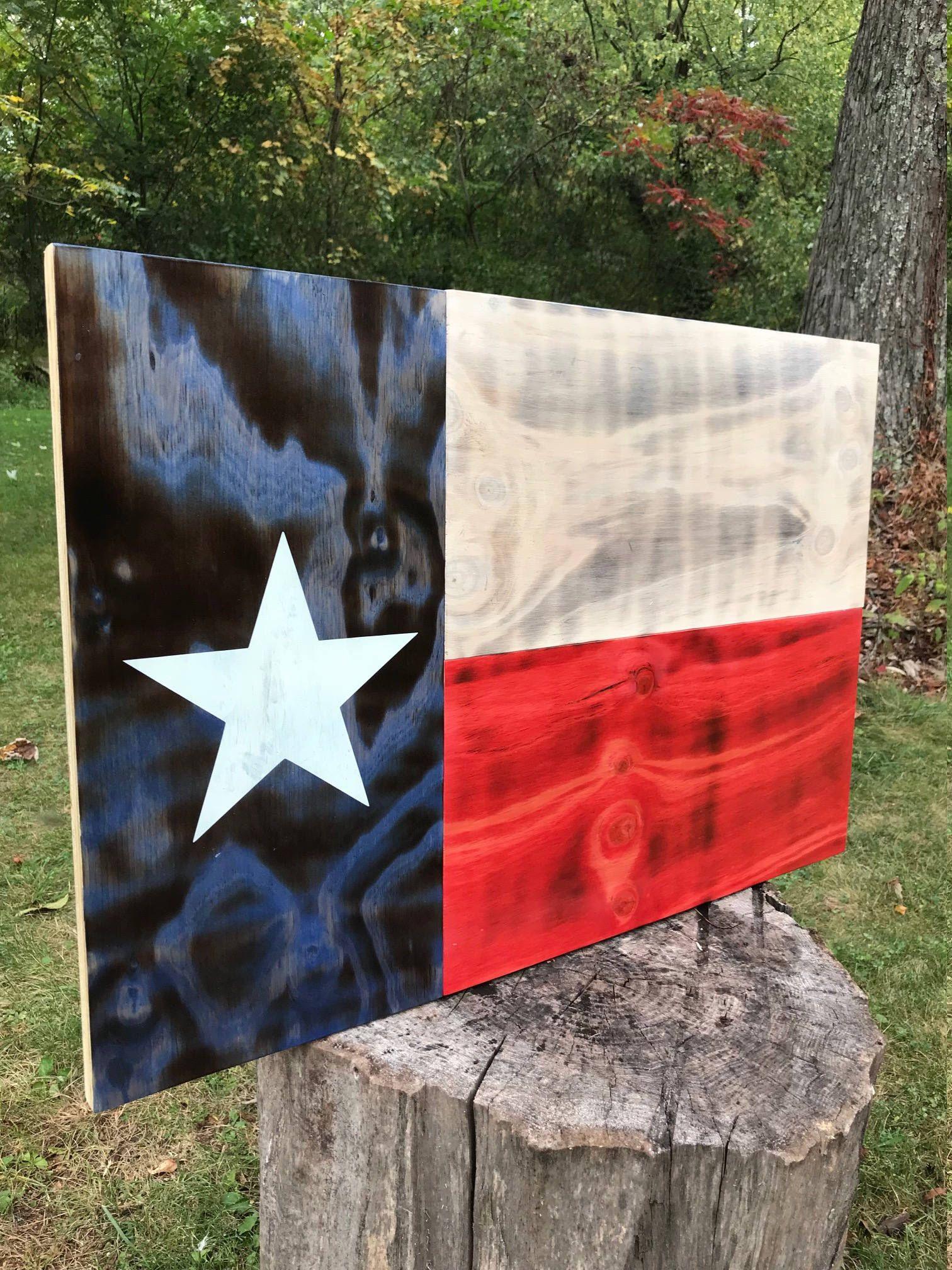 Texas Flag Texas Decor Texas State Flag Wood Texas Flag Wooden Texas Flag American Flag Patriotic Art Rustic Wood Flag Flag In 2020 American Flag Art American Flag Wall Art Wood Flag
