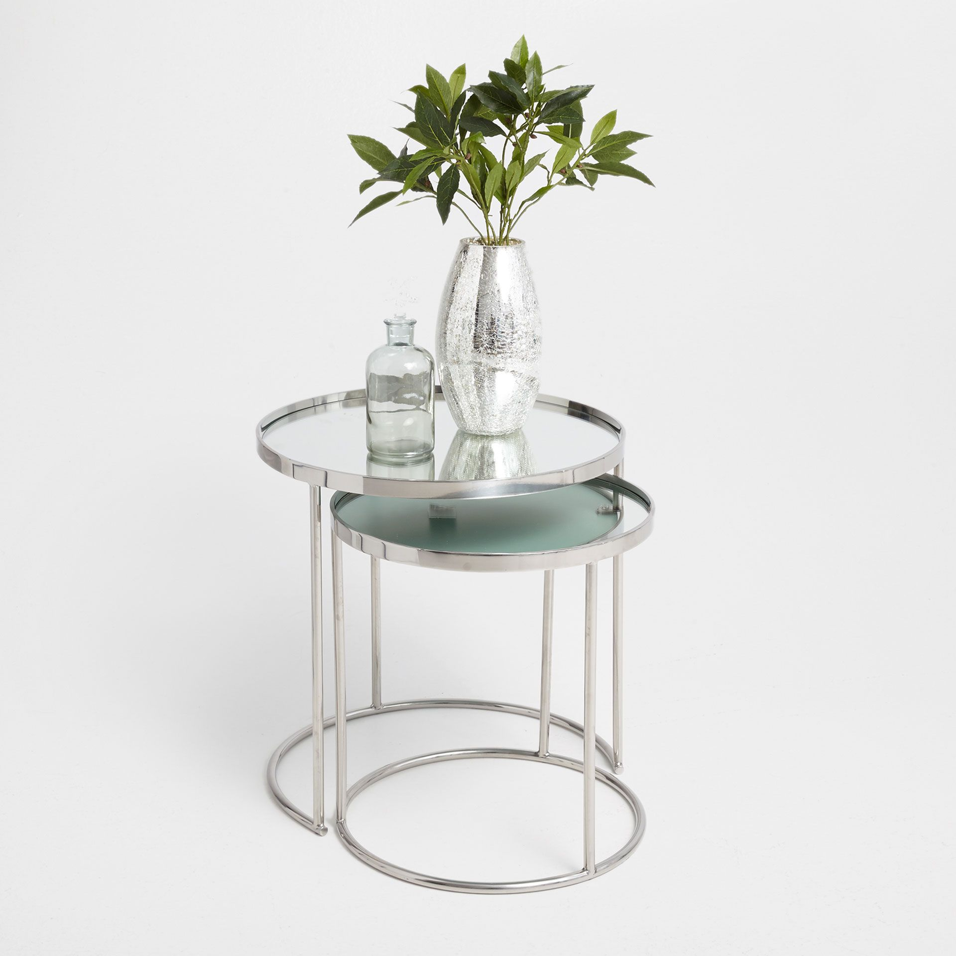 Image 1 Of The Product Round Silver Nest Of Tables Set Of 2 Furniture Table Nesting Tables [ 1920 x 1920 Pixel ]