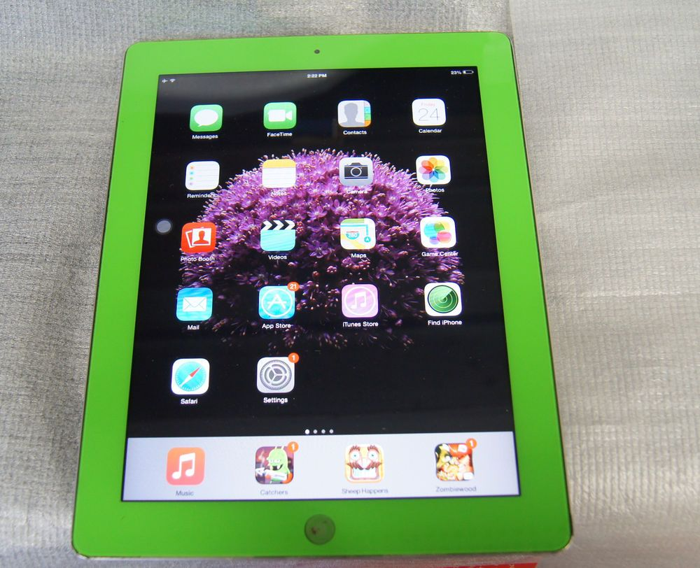 "APPLE IPAD 2 A1395 16GB WiFi 9.7"" GREEN/ SILVER TABLET"