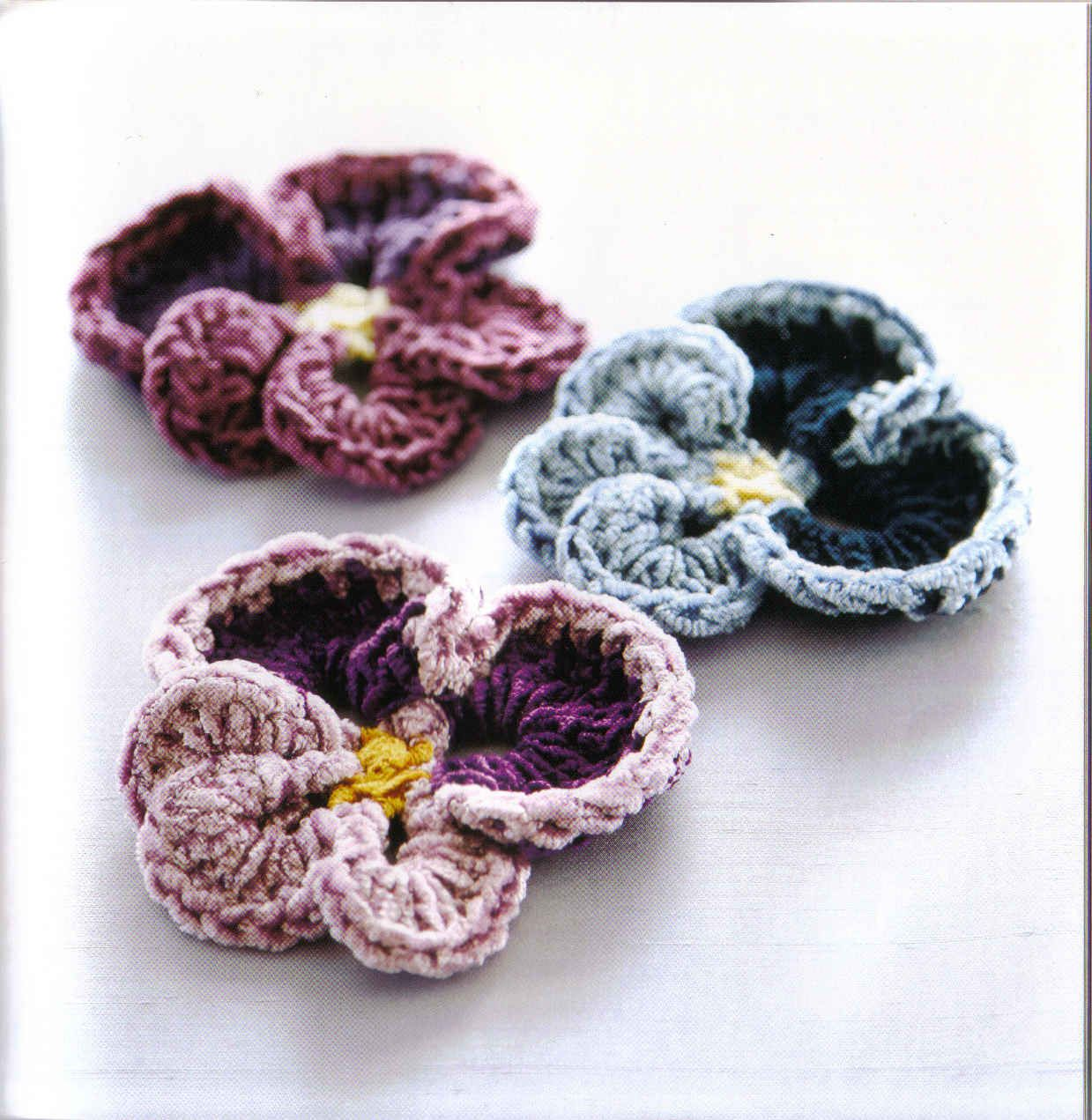 Pansy Party, Flor a crochet