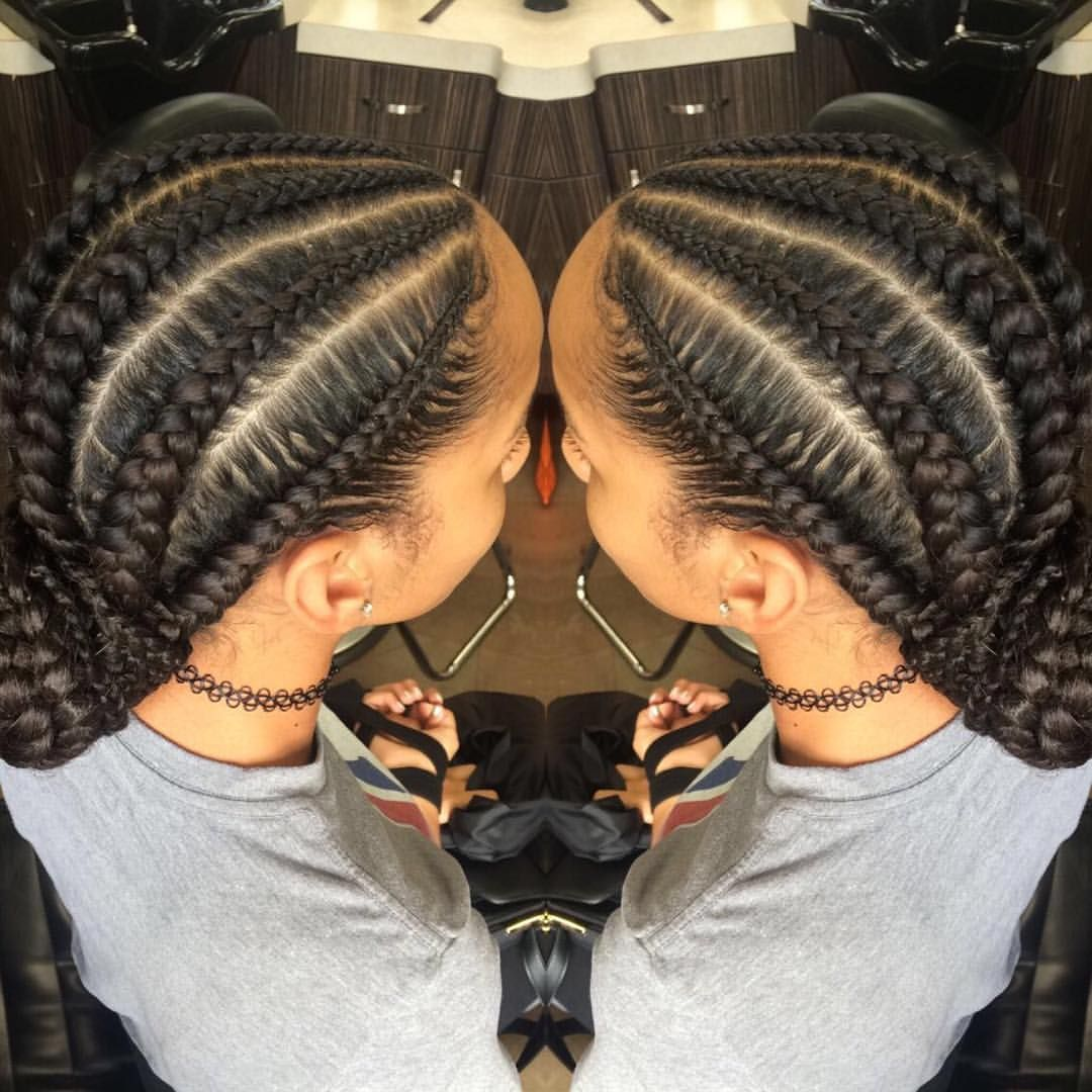 From Instagram Summer Favorite Loved Doing These Braids Into A Low Bun Whodoesyourhair Flat Twist Hairstyles Feed In Braid Feed In Braids Bun