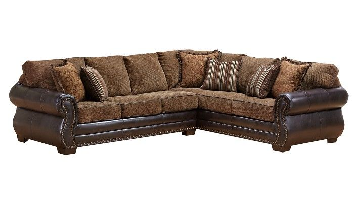 Slumberland Furniture Williamsburg Collection Chestnut Sectional
