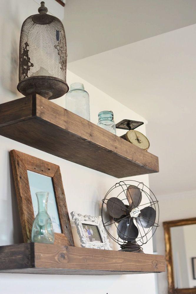 How To Make Floating Farmhouse Shelves Floating Shelves Diy