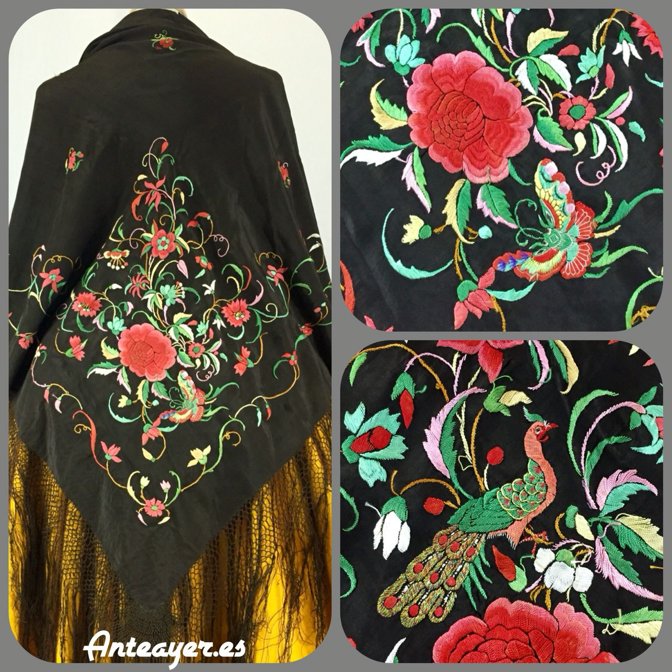Anteayer.es, Manton de Manila | embroidery | Pinterest | Manton de ...
