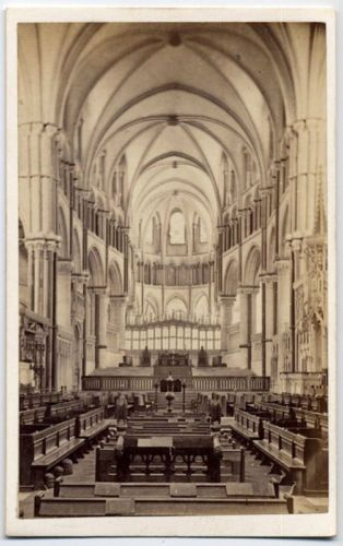 Antique-CDV-Photo-Church-Interior-Canterbury-Cathedral-England-UK