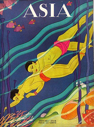 Asia January 1928 by Frank McIntosh