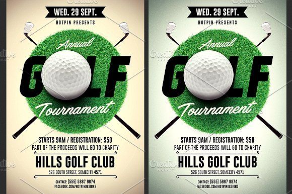 Golf Tournament Flyer Template by Hotpin on @creativemarket Best - golf tournament flyer template